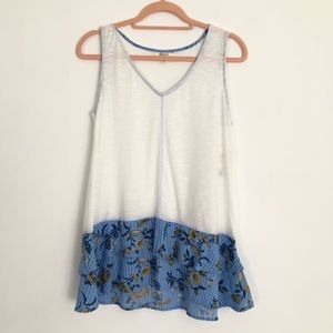 Style & Co | Sleeveless V-Neck Floral Top